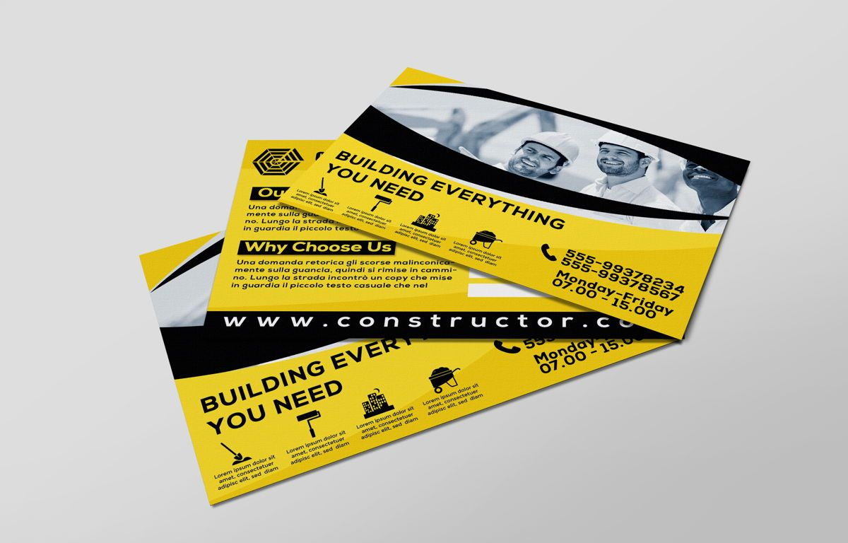 Construction Company PostCard, Slide 6, 08741, Construction — PoweredTemplate.com