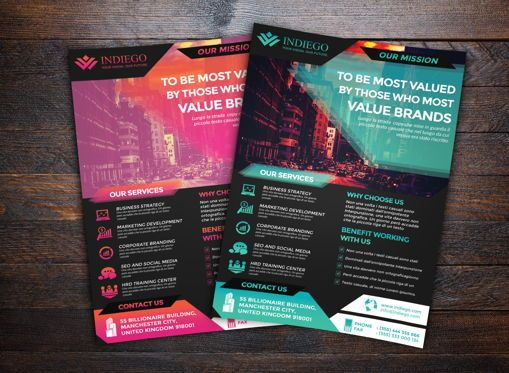 Business: Company Flyer Template #08747