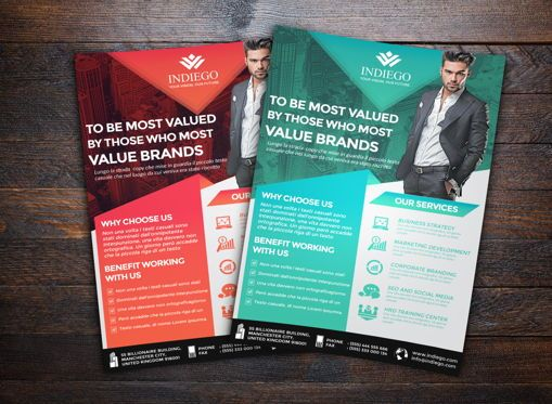 Business: Company Flyer Template #08749