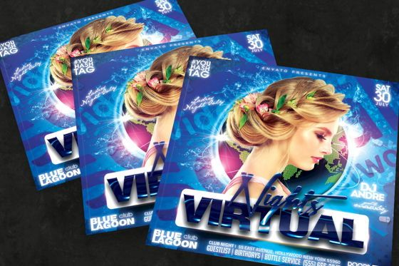 Art & Entertainment: Night Club Flyer Template #08750