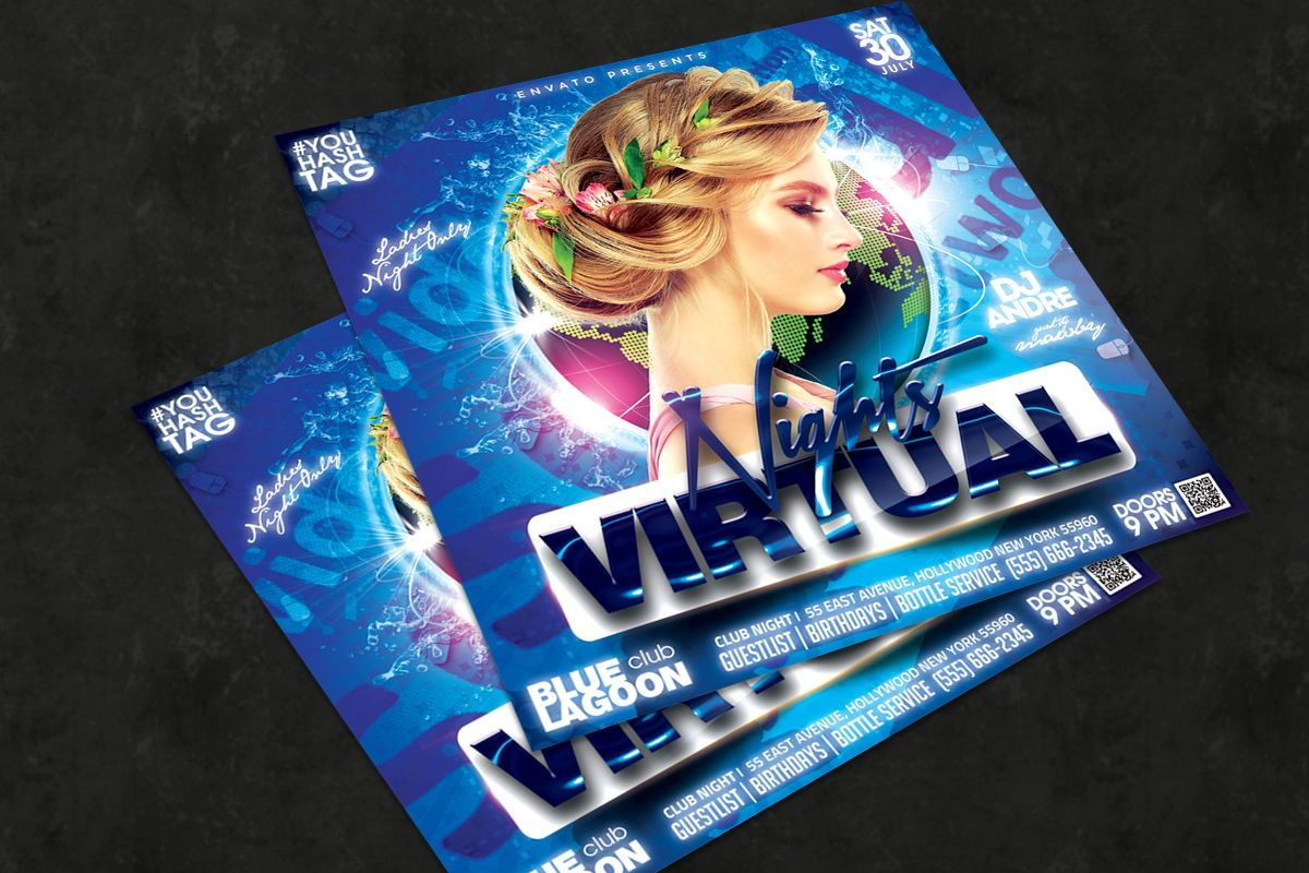 Night Club Flyer Template, Slide 2, 08750, Art & Entertainment — PoweredTemplate.com