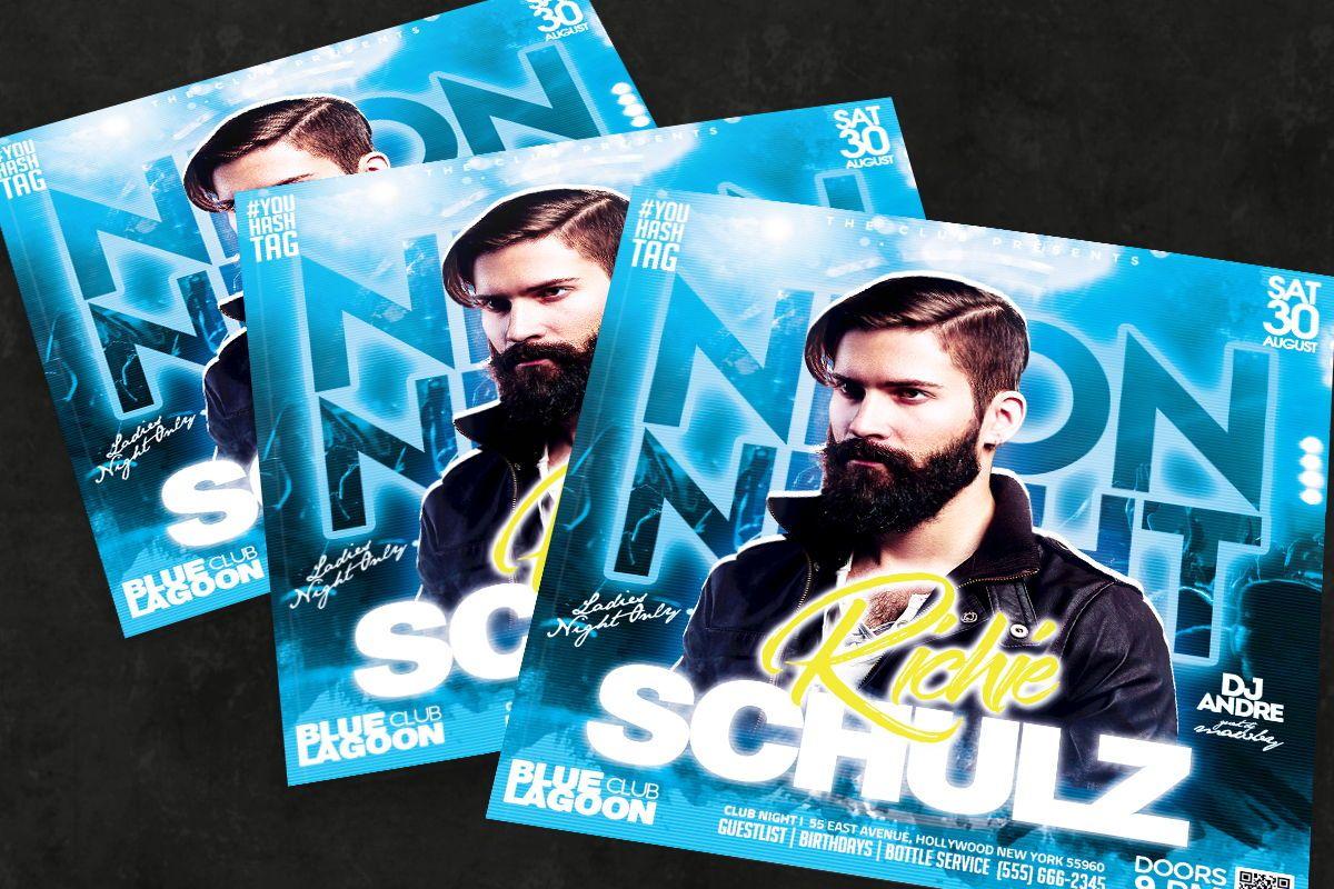 Night Club Flyer Template, 08752, Art & Entertainment — PoweredTemplate.com