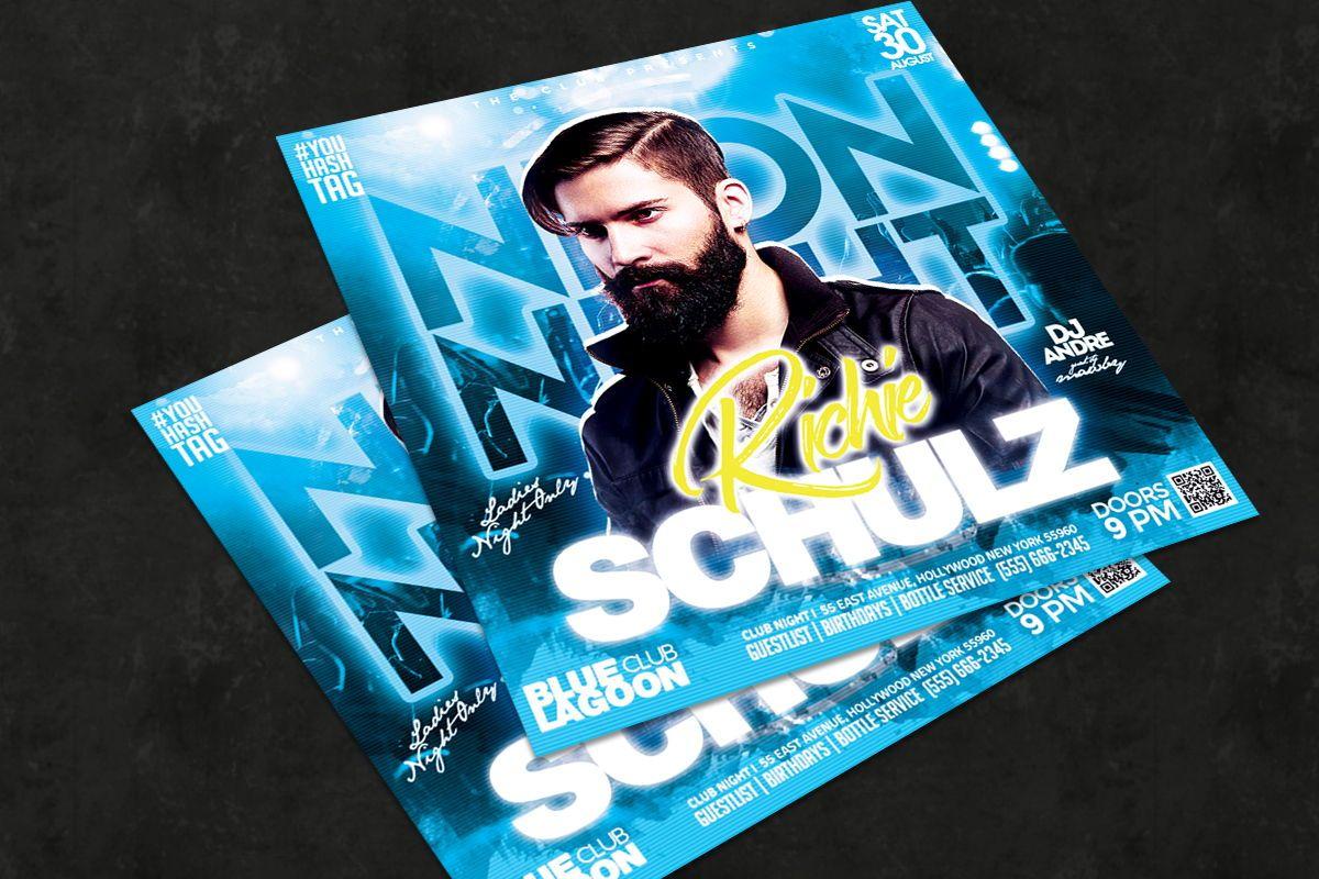 Night Club Flyer Template, Slide 2, 08752, Art & Entertainment — PoweredTemplate.com