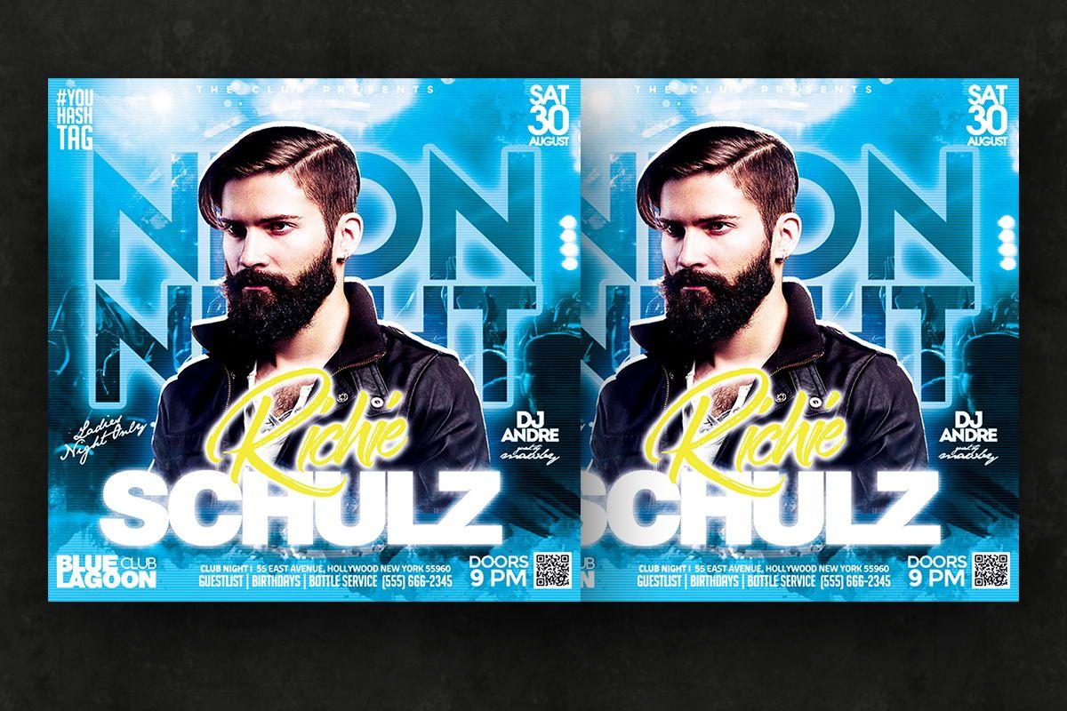 Night Club Flyer Template, Slide 3, 08752, Art & Entertainment — PoweredTemplate.com