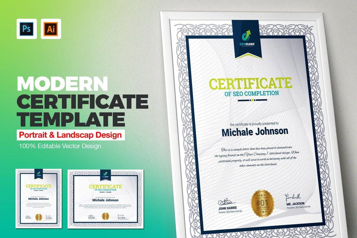 Certificate of SEO Completion Multipurpose Certificate Template Business Award Certificate, Slide 2, 08754, Business — PoweredTemplate.com