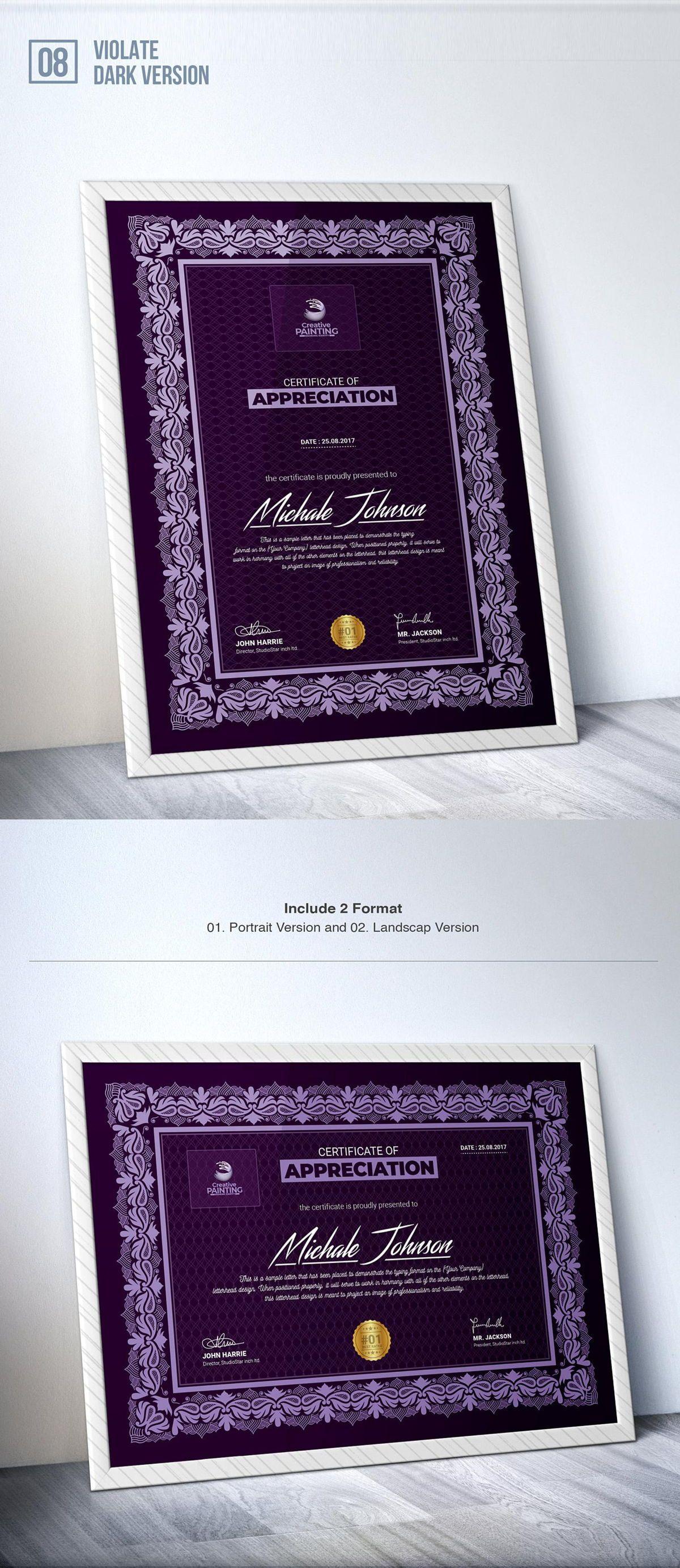 Creative Painting Certificate - 8 Colors - Dark and Light Version, Slide 10, 08755, Business — PoweredTemplate.com