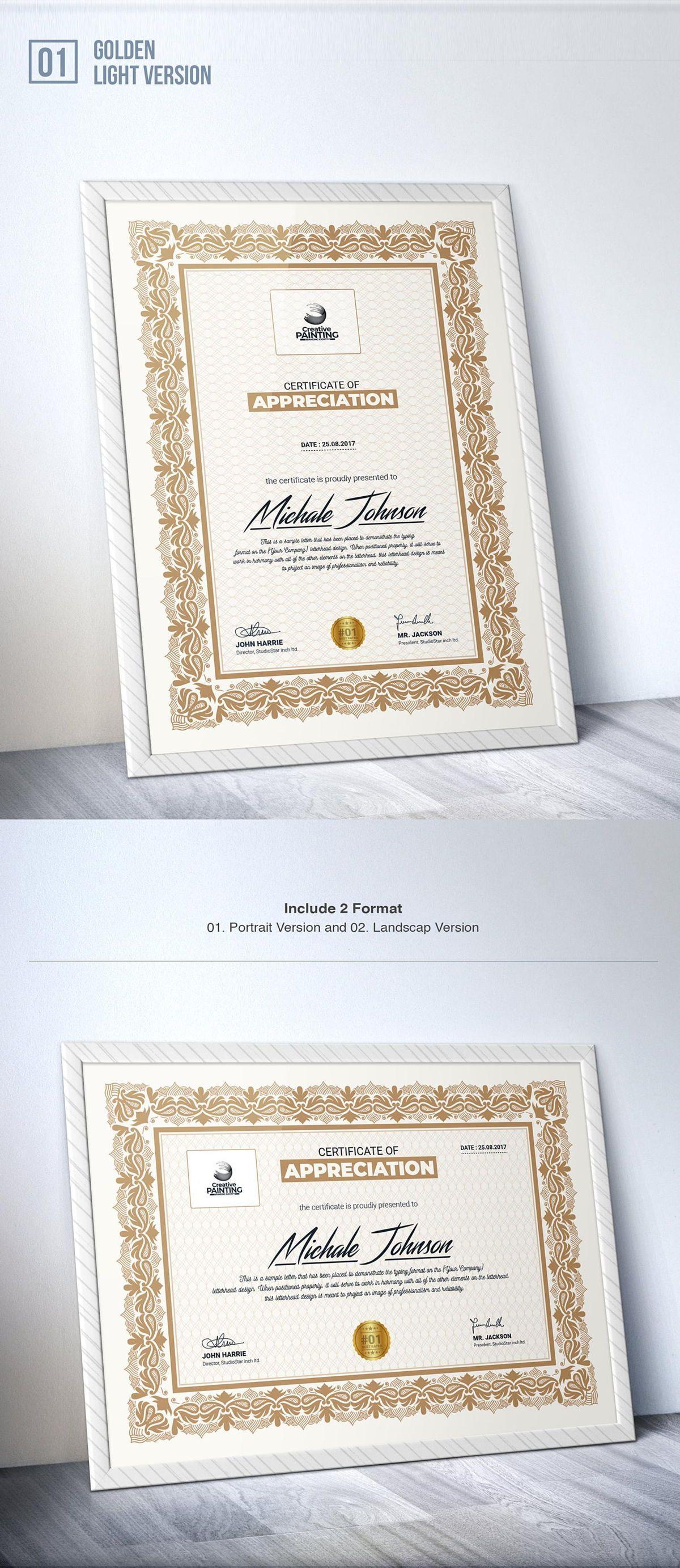 Creative Painting Certificate - 8 Colors - Dark and Light Version, Slide 3, 08755, Business — PoweredTemplate.com