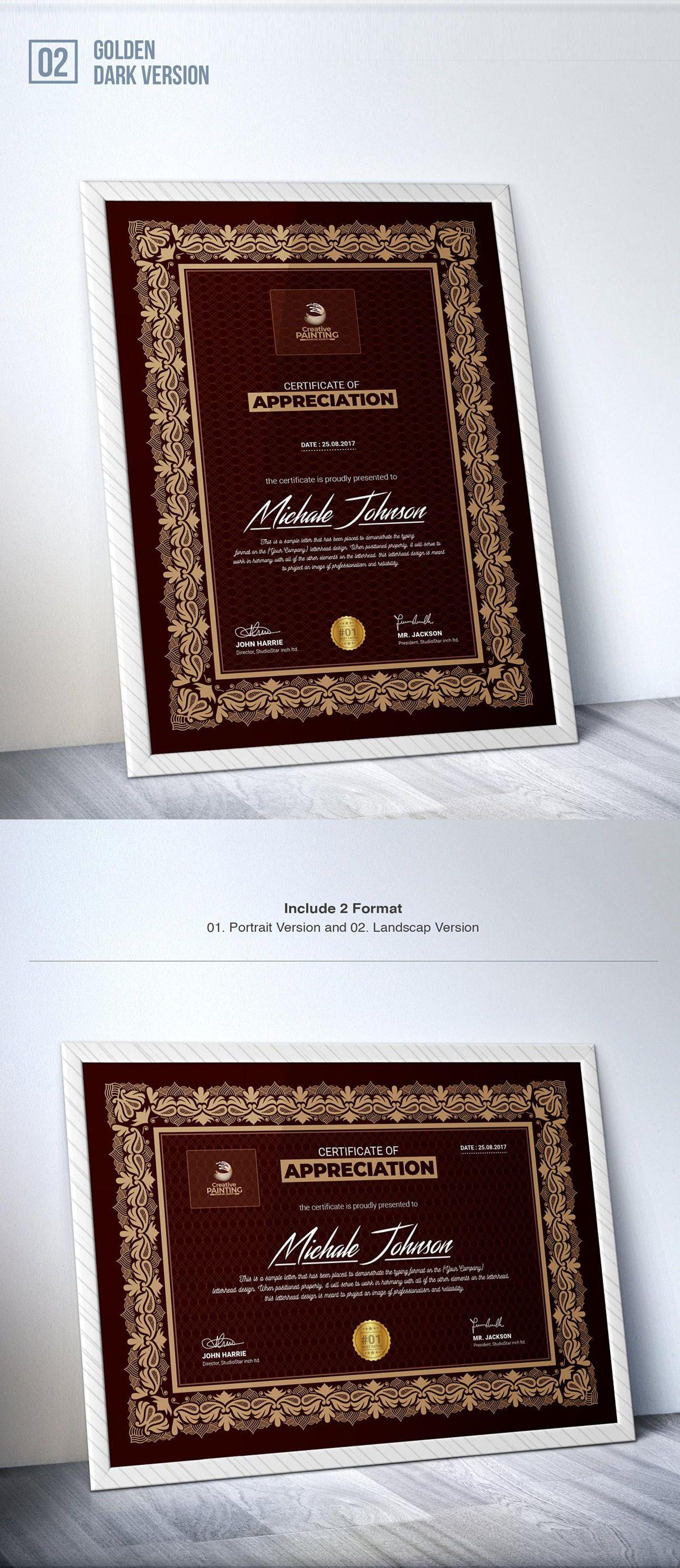 Creative Painting Certificate - 8 Colors - Dark and Light Version, Slide 4, 08755, Business — PoweredTemplate.com