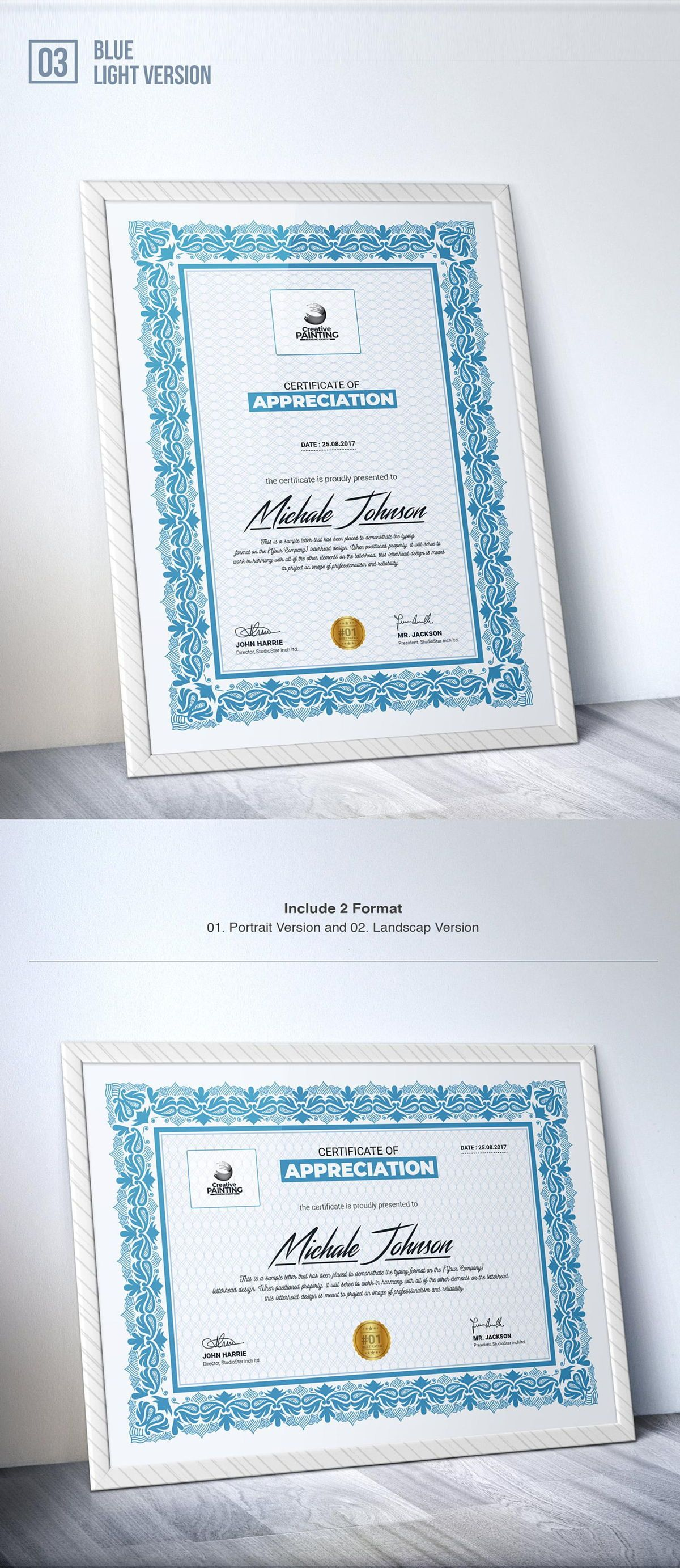 Creative Painting Certificate - 8 Colors - Dark and Light Version, Slide 5, 08755, Business — PoweredTemplate.com