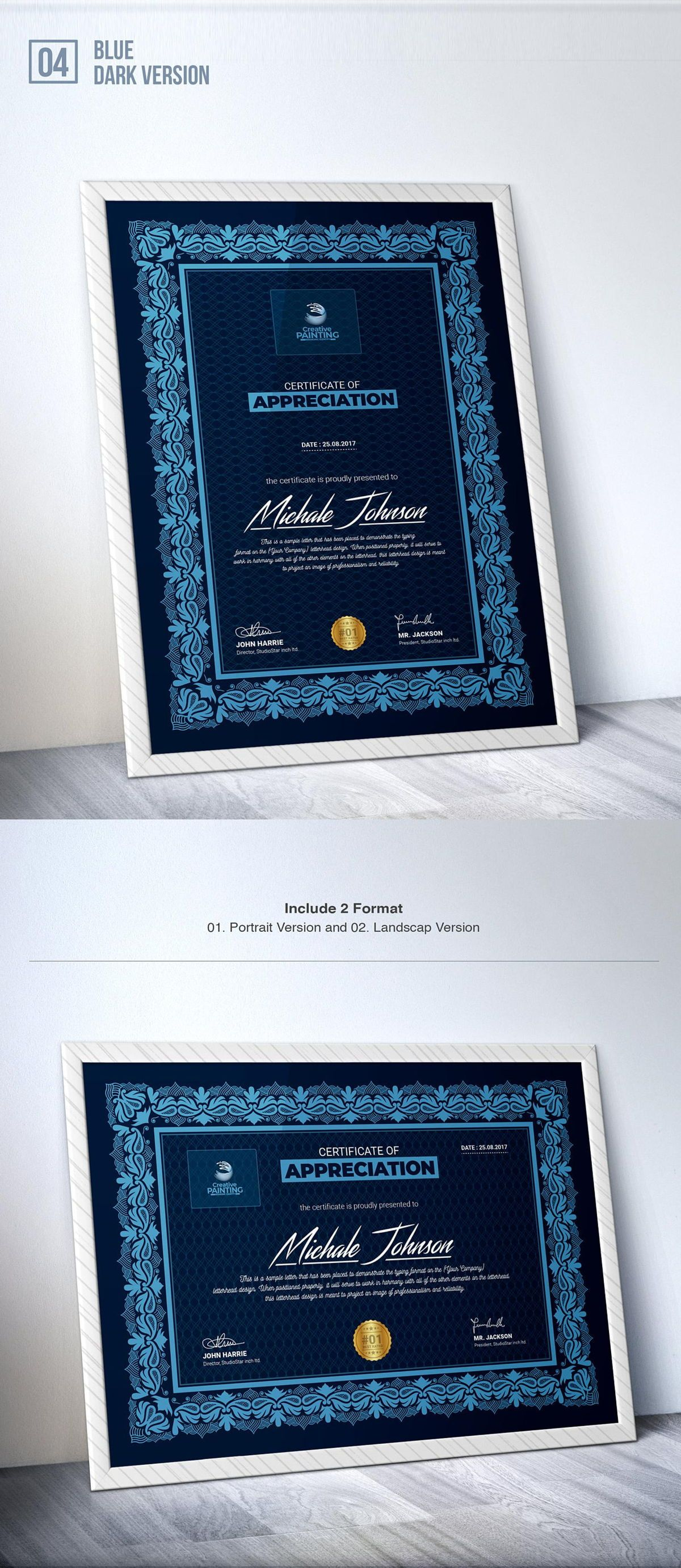 Creative Painting Certificate - 8 Colors - Dark and Light Version, Slide 6, 08755, Business — PoweredTemplate.com