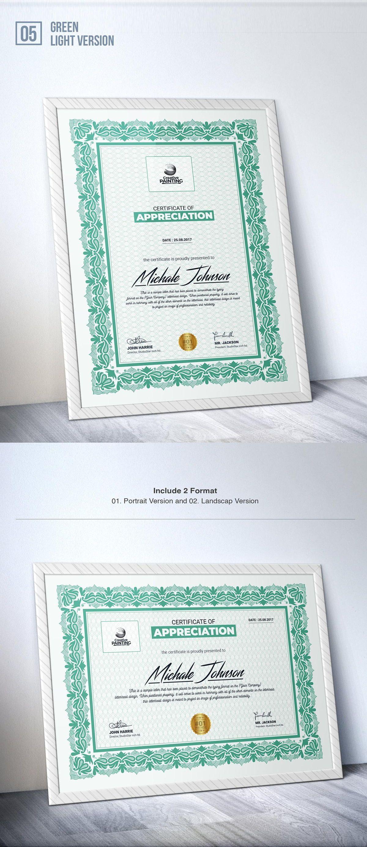 Creative Painting Certificate - 8 Colors - Dark and Light Version, Slide 7, 08755, Business — PoweredTemplate.com