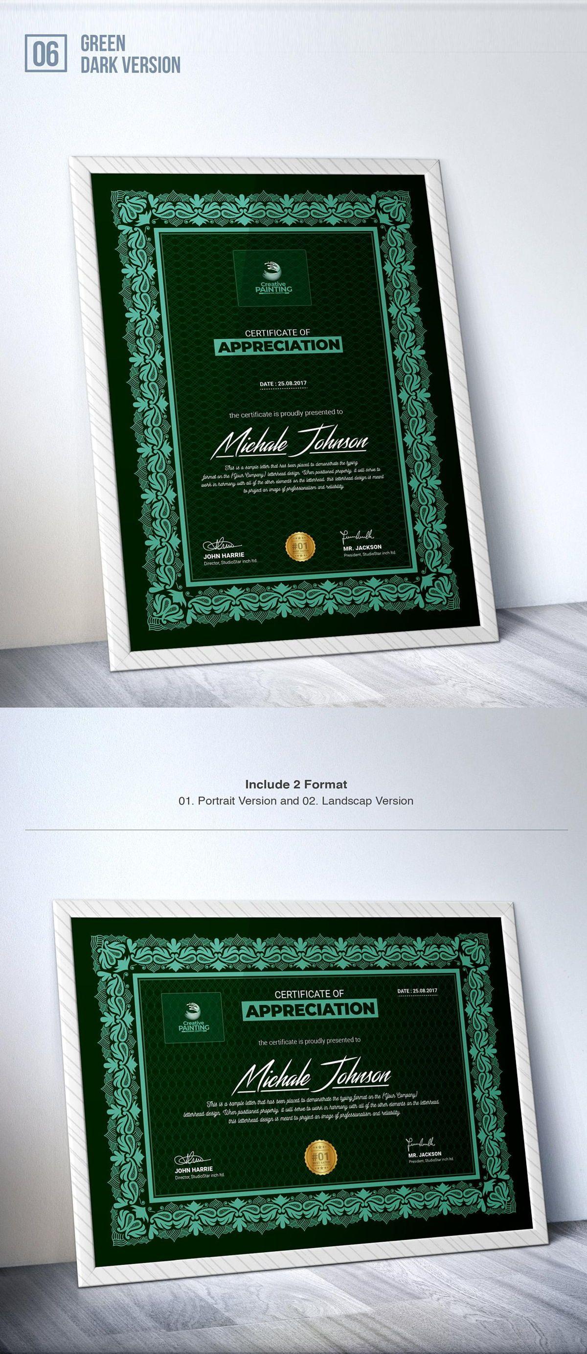 Creative Painting Certificate - 8 Colors - Dark and Light Version, Slide 8, 08755, Business — PoweredTemplate.com