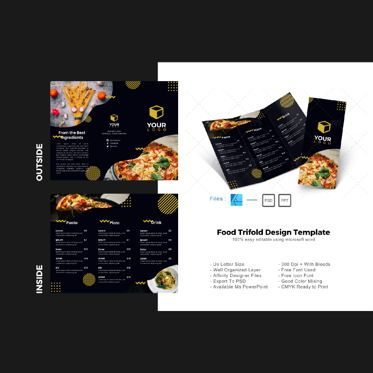 Food & Beverage: Multipurpose food trifold brochure design template #08756