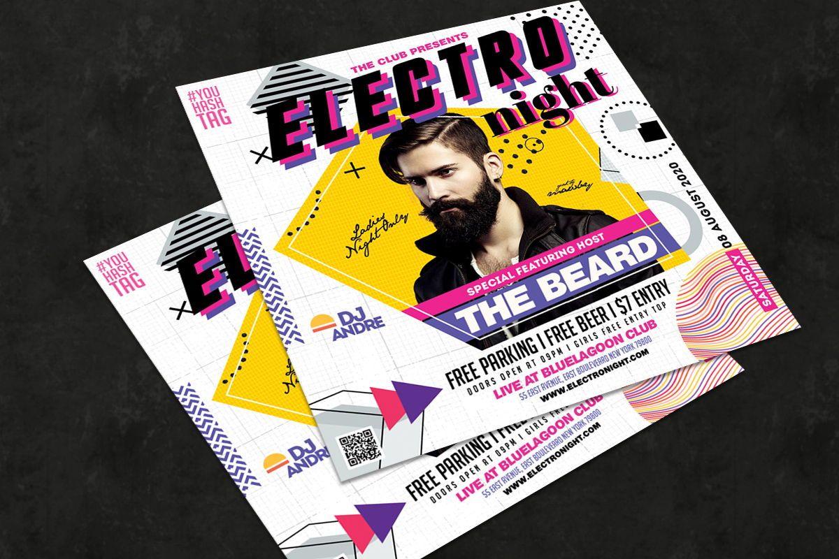 Night Club Flyer Template, Slide 2, 08757, Art & Entertainment — PoweredTemplate.com