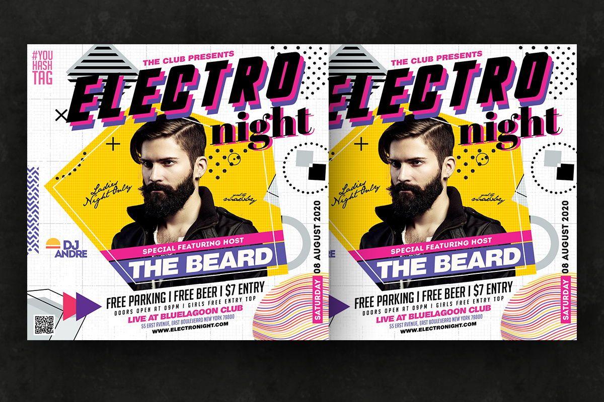 Night Club Flyer Template, Slide 3, 08757, Art & Entertainment — PoweredTemplate.com