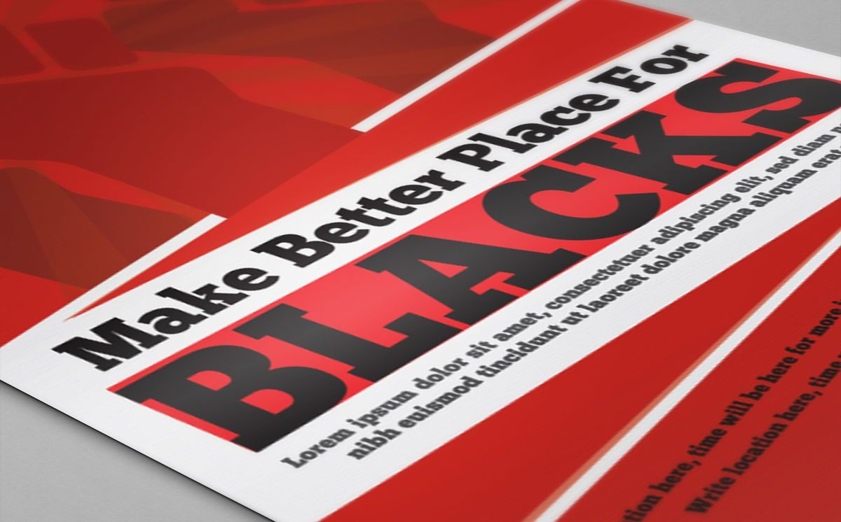 Black Racism Revolution protest Fist Creative poster Template, Slide 2, 08758, Flags/International — PoweredTemplate.com