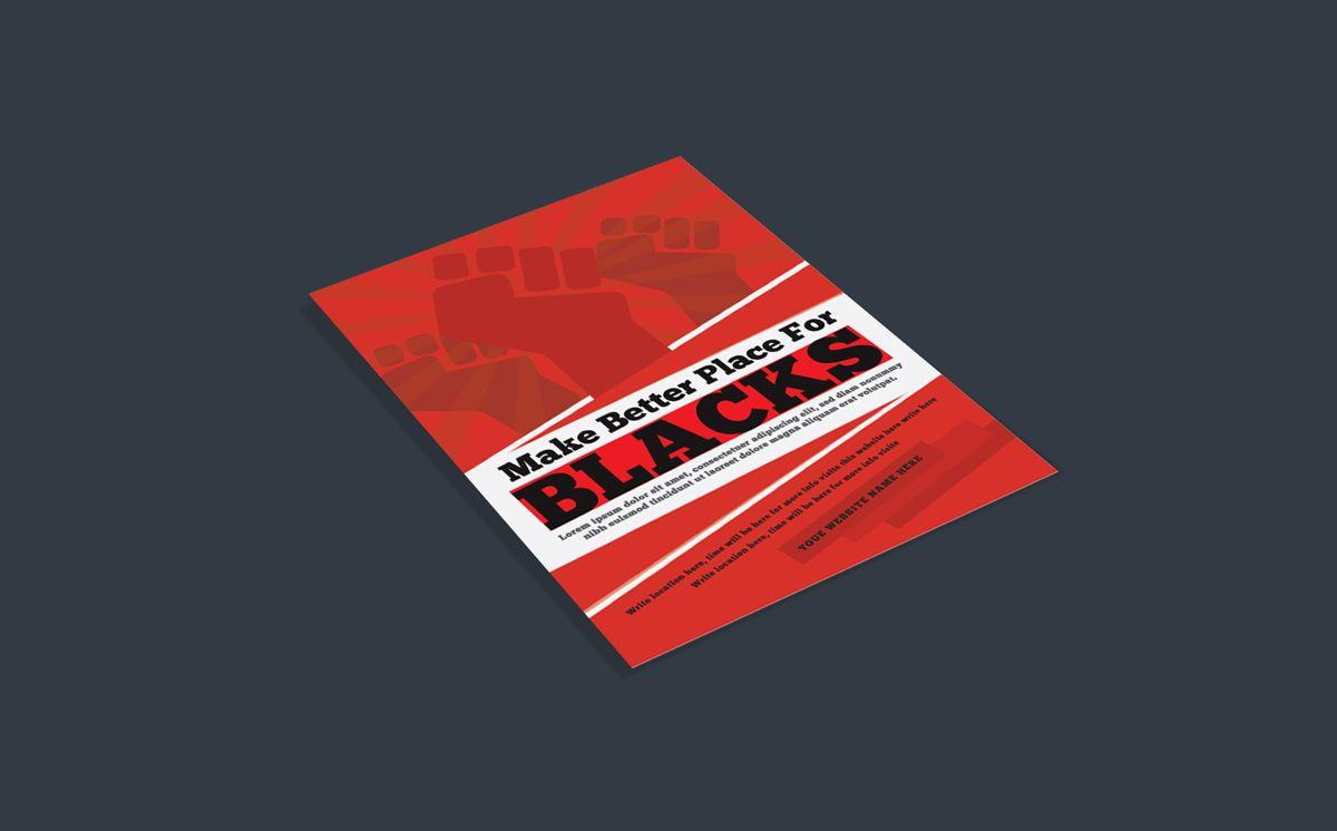 Black Racism Revolution protest Fist Creative poster Template, Slide 3, 08758, Flags/International — PoweredTemplate.com