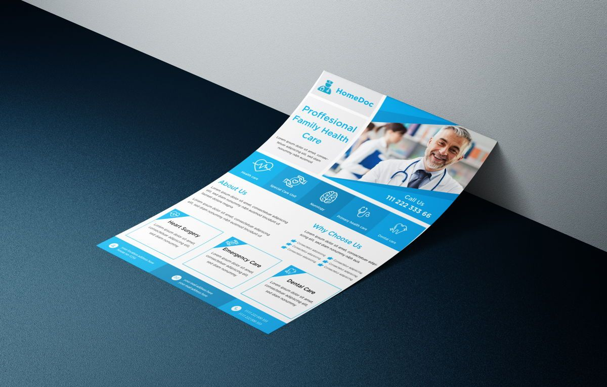 Doctor Advertisement Medical Services Promotional Flyer, 08759, Consulting — PoweredTemplate.com