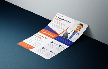 Consulting: Doctor Advertisement Medical Services Promotional Flyer #08760
