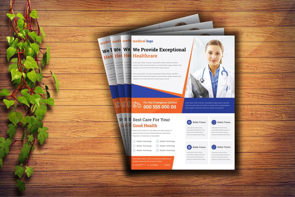 Doctor Advertisement Medical Services Promotional Flyer, Slide 3, 08760, Consulting — PoweredTemplate.com