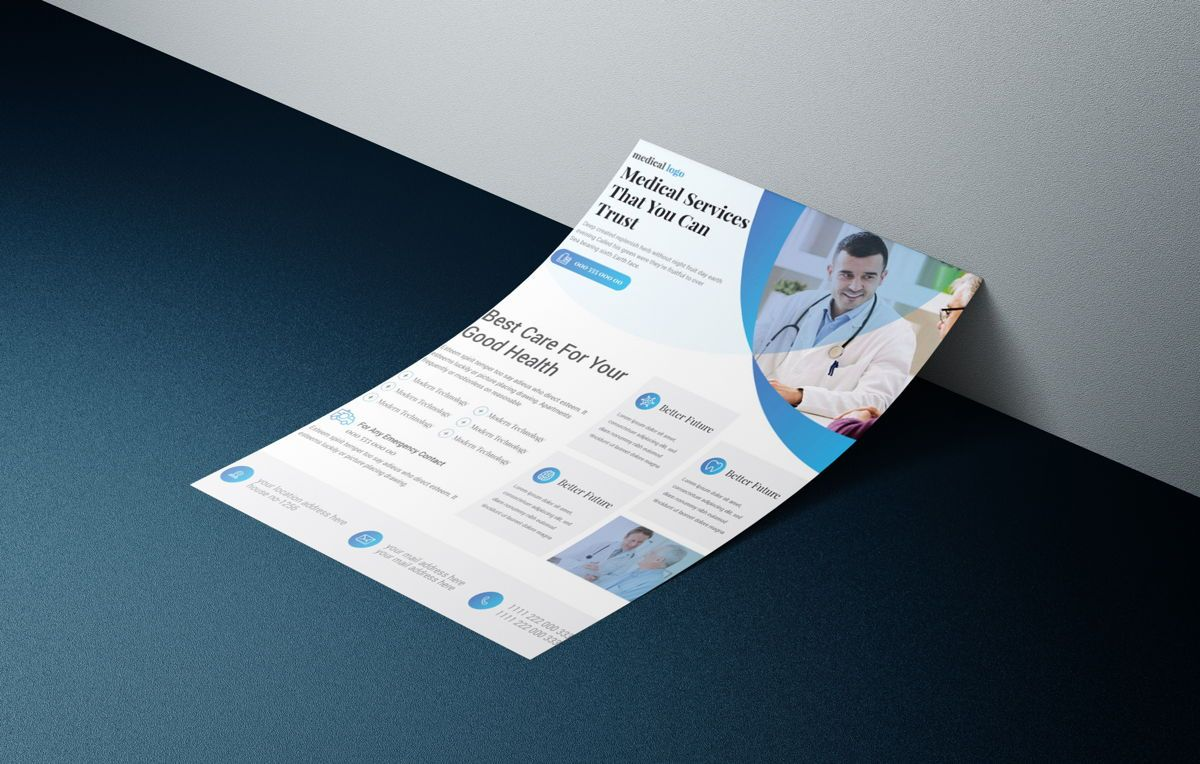 Doctor Advertisement Medical Services Promotional Flyer, 08761, Consulting — PoweredTemplate.com