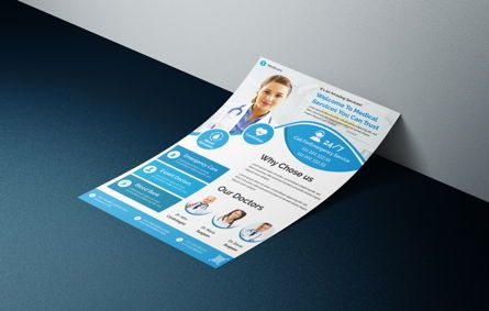 Medical: Medical healthcare flyer template #08762