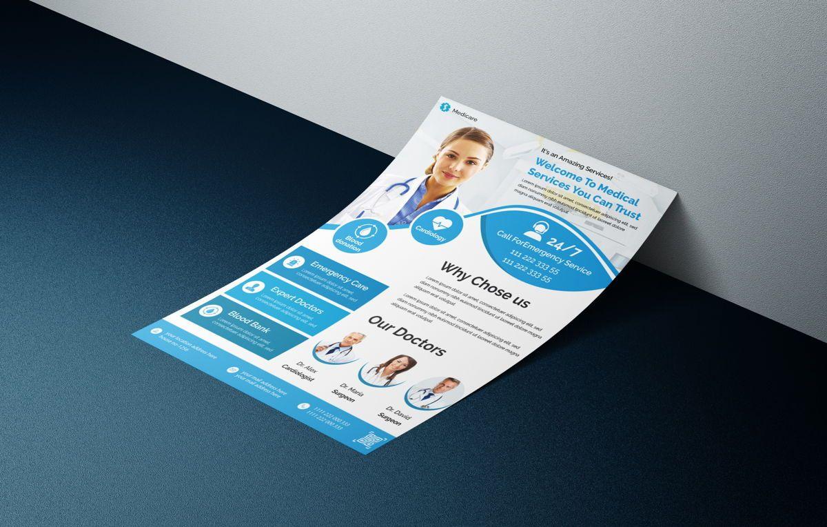 Medical healthcare flyer template, 08762, Medical — PoweredTemplate.com