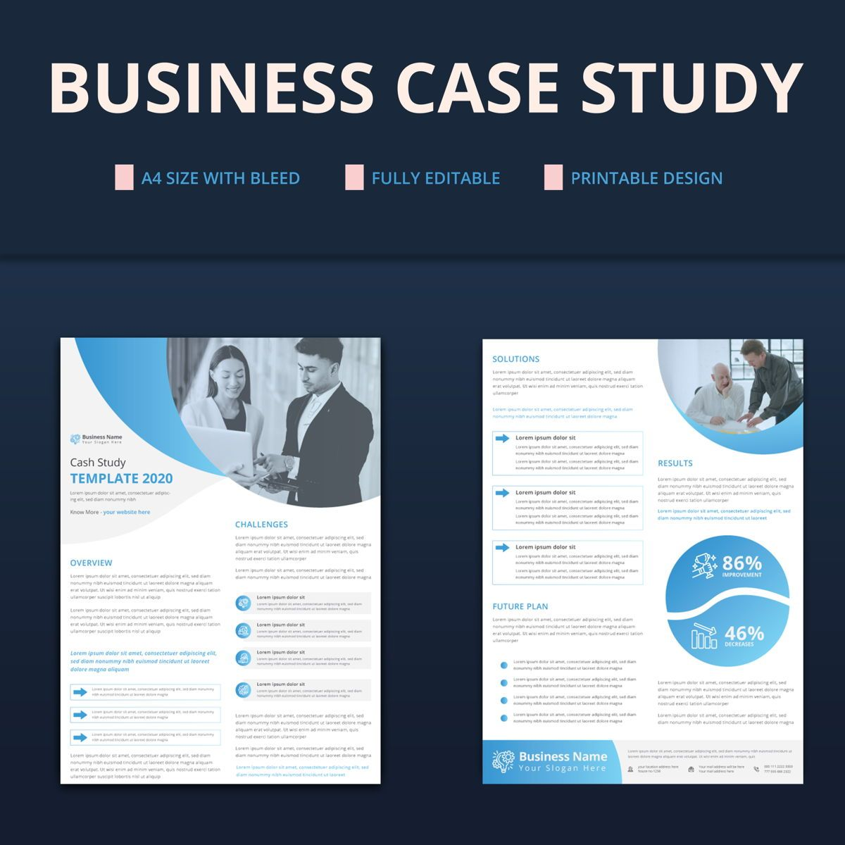Creative Corporate Business Case Study Template, Slide 2, 08763, Business — PoweredTemplate.com