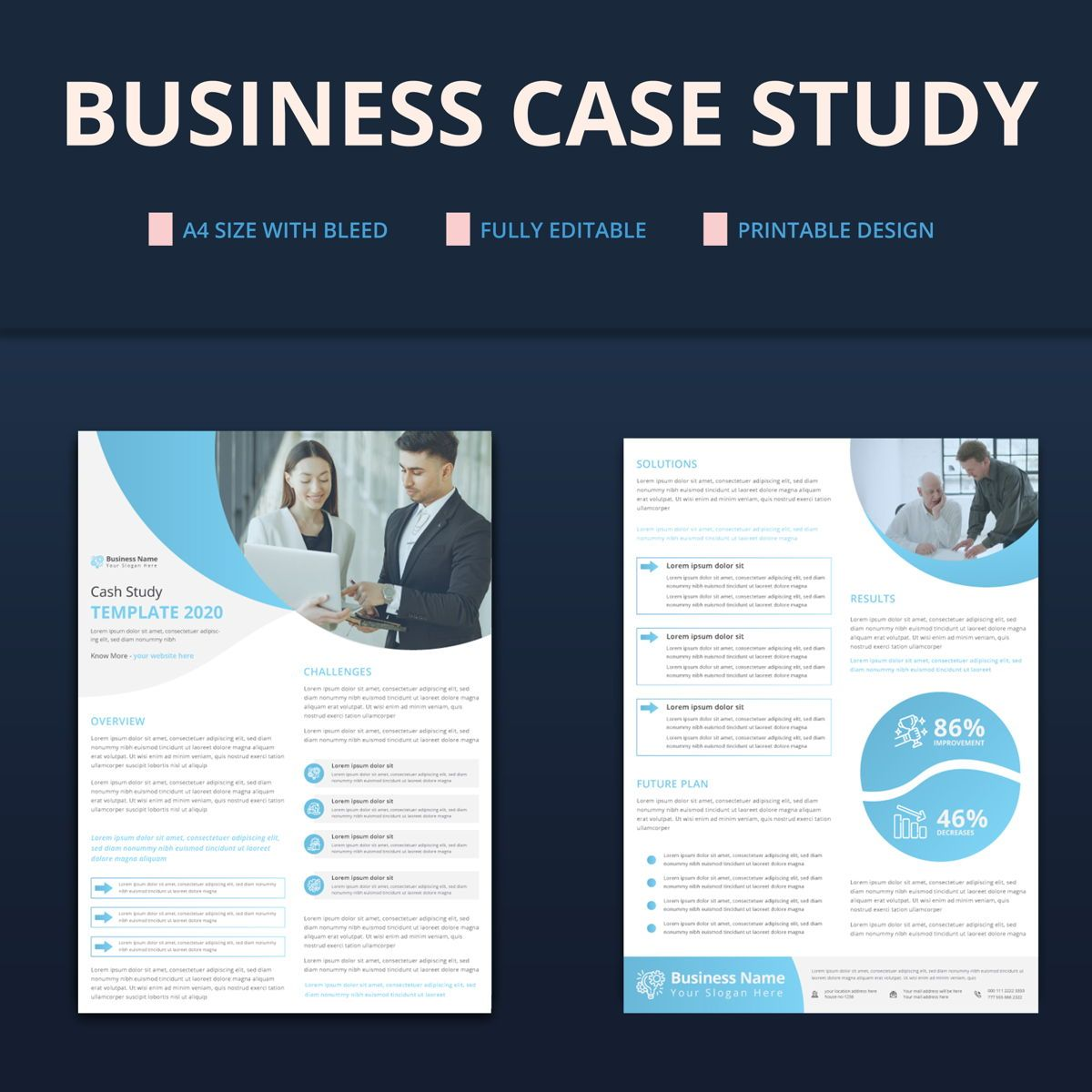 Creative Corporate Business Case Study Template, Slide 3, 08763, Business — PoweredTemplate.com