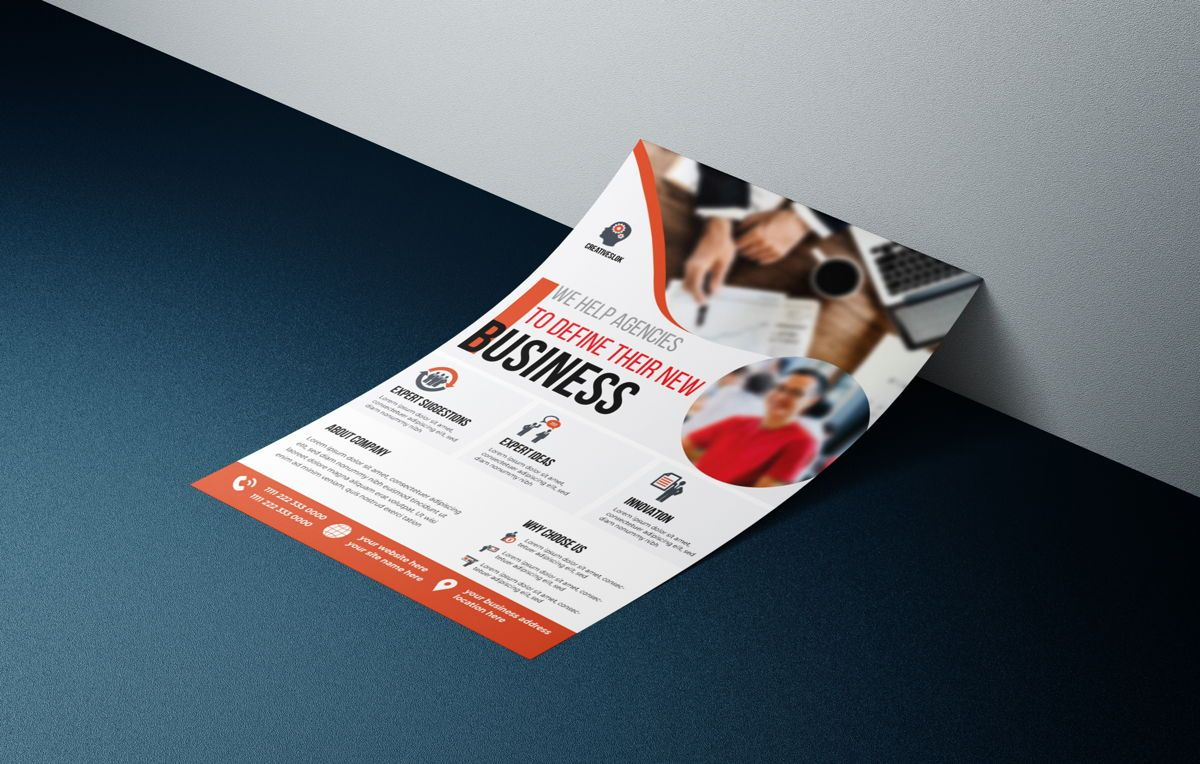 Multipurpose Business Services Promotional Flyer, Diapositive 3, 08764, Carrière / Industrie — PoweredTemplate.com