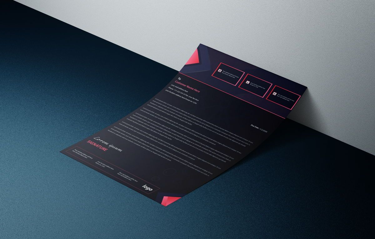 Latest creative business letterhead bundle, Slide 3, 08765, Business — PoweredTemplate.com