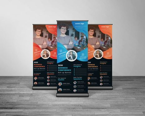 Business: Creative Multipurpose Business Roll Up Banner Template #08766