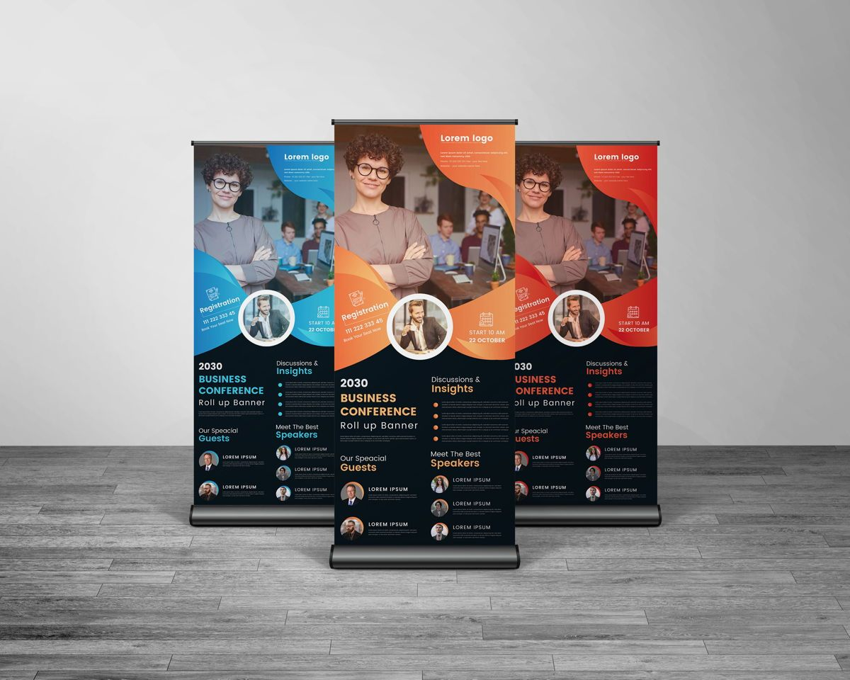 Creative Multipurpose Business Roll Up Banner Template, Slide 3, 08766, Business — PoweredTemplate.com