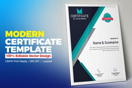 Business: Certificate of Achievement Template #08768