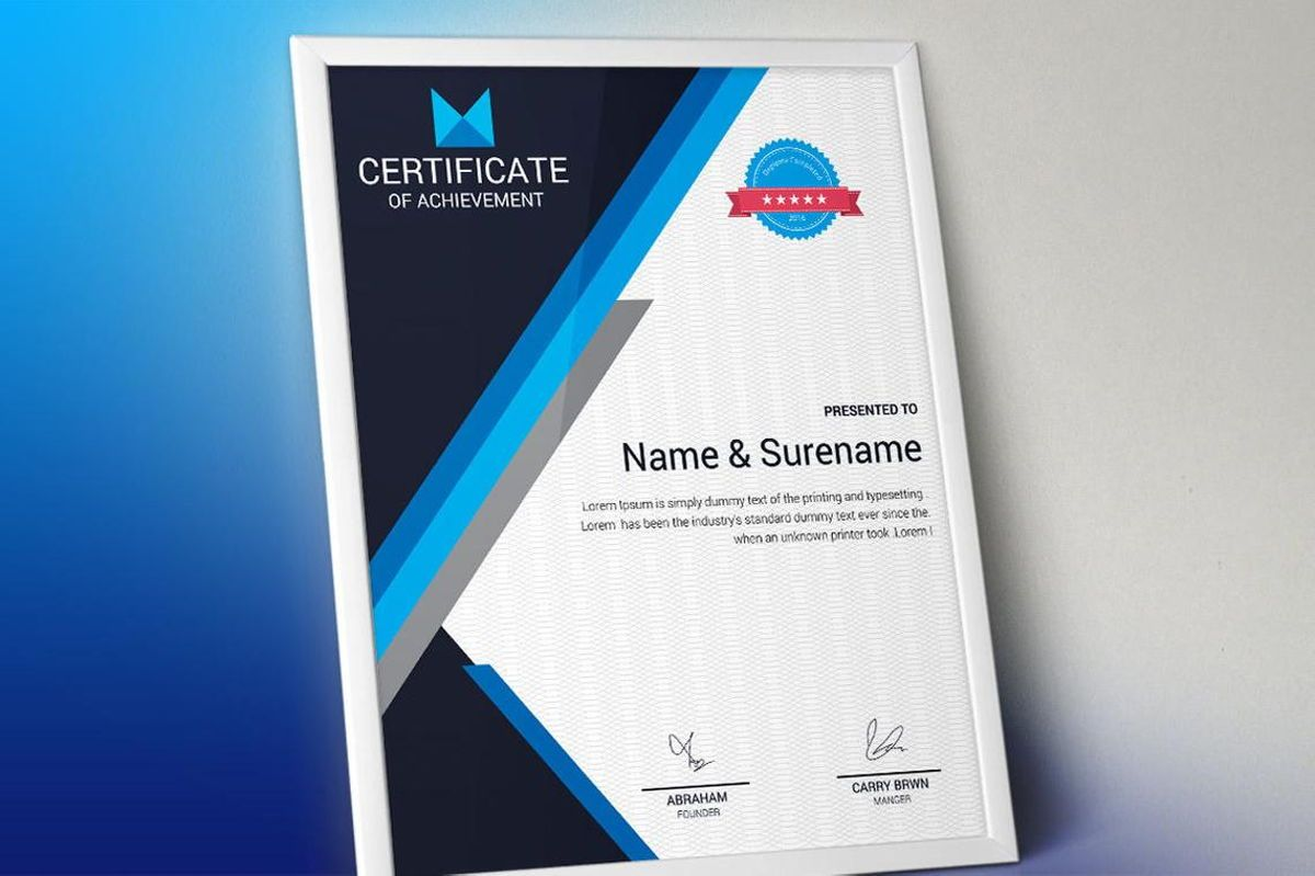 Certificate of Achievement Template, Slide 2, 08768, Business — PoweredTemplate.com