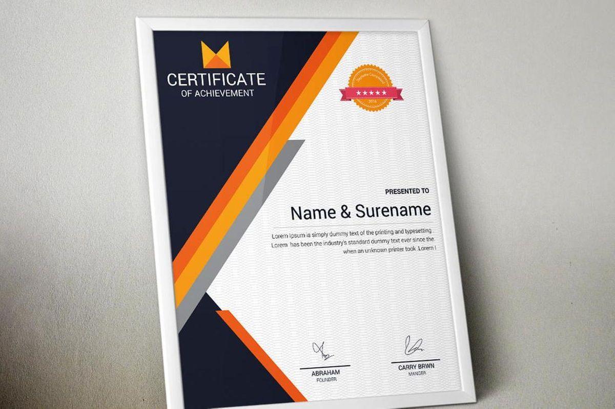 Certificate of Achievement Template, Slide 3, 08768, Business — PoweredTemplate.com