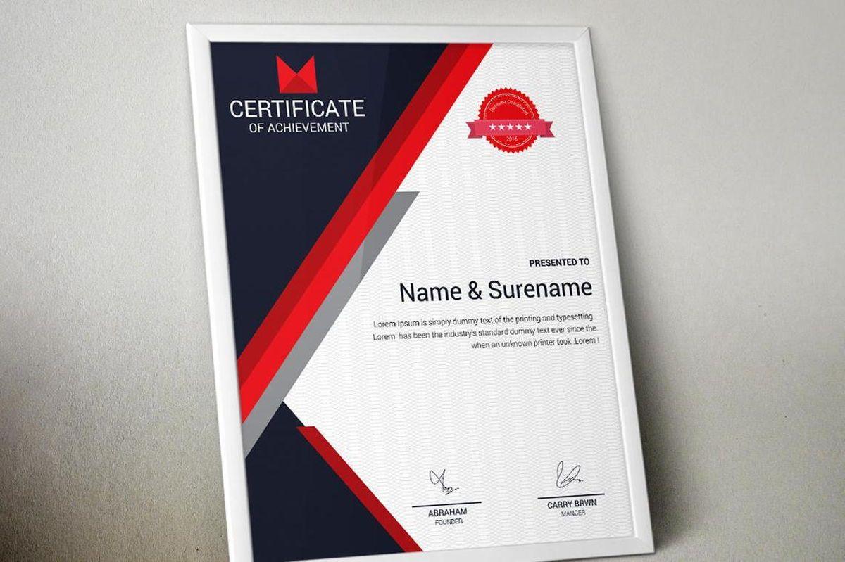 Certificate of Achievement Template, Slide 4, 08768, Business — PoweredTemplate.com