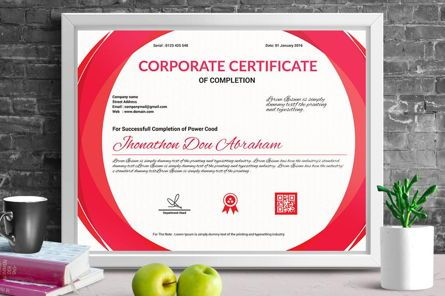 Business: Corporate Certificate of Completion Template #08769