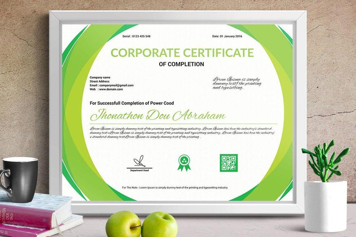 Corporate Certificate of Completion Template, Slide 2, 08769, Business — PoweredTemplate.com