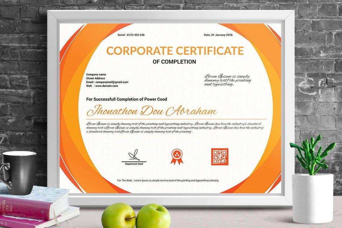Corporate Certificate of Completion Template, Slide 3, 08769, Business — PoweredTemplate.com