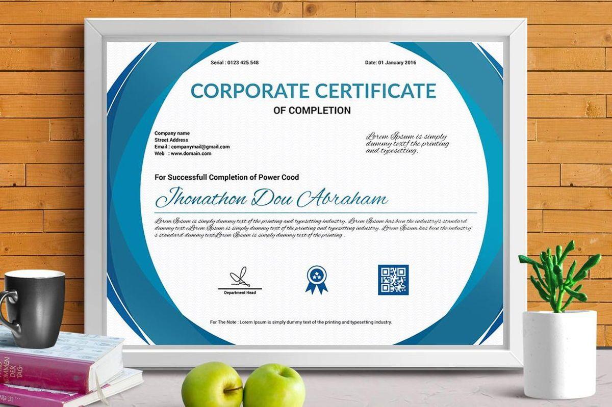 Corporate Certificate of Completion Template, Slide 4, 08769, Business — PoweredTemplate.com