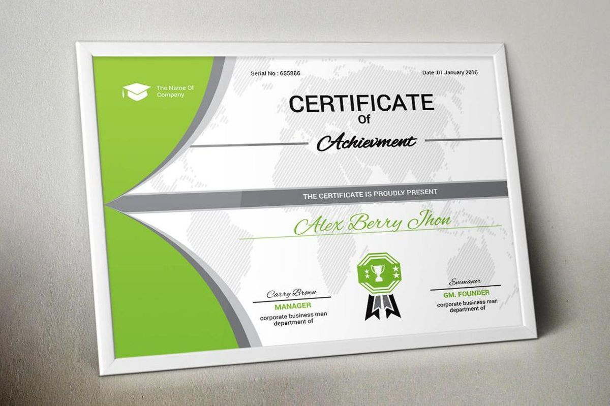 Certificate of Achievement with Badge Template, Slide 4, 08770, Business — PoweredTemplate.com