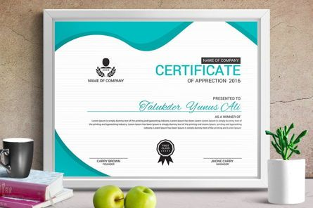 Business: Corporate Business Certificate Template #08771