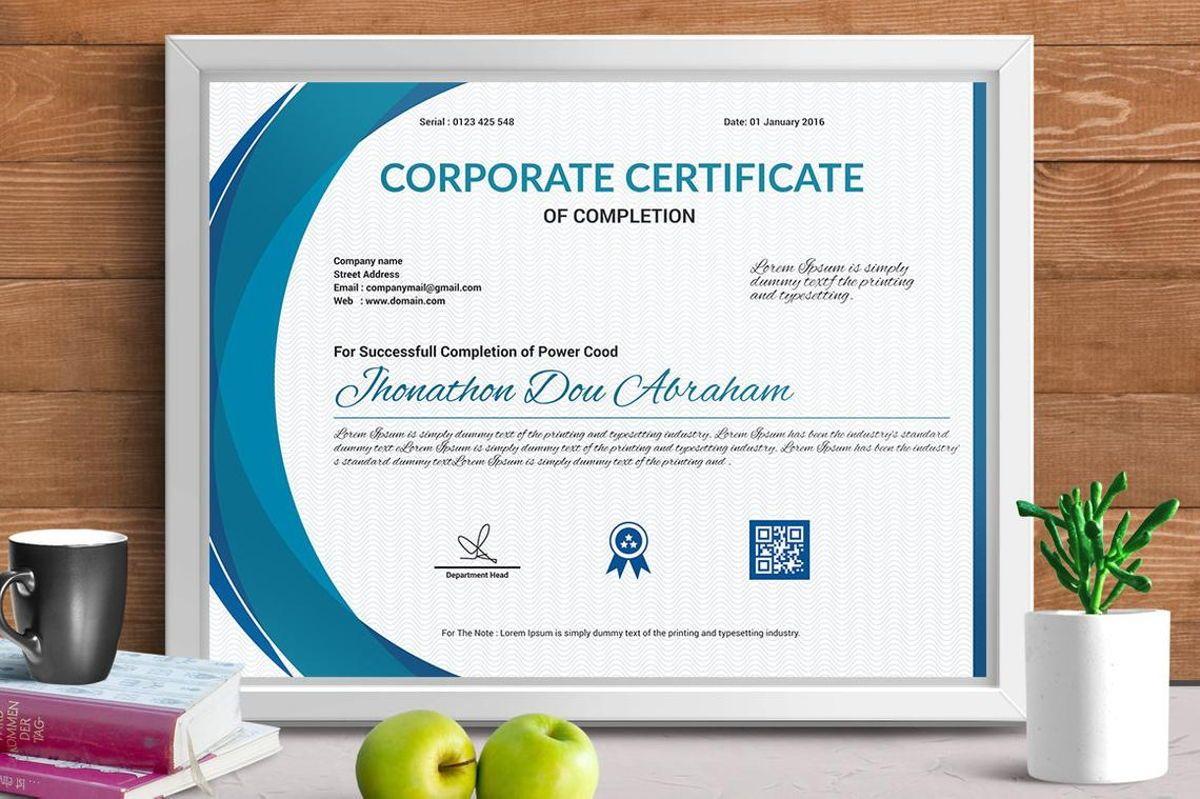 Vector Certificate Template, 08772, Business — PoweredTemplate.com