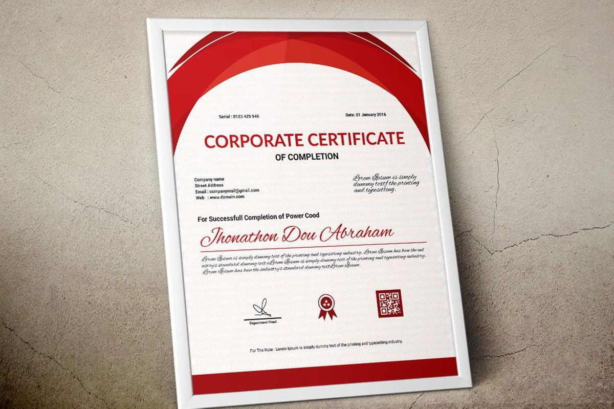 Vector Certificate Template, Slide 10, 08772, Business — PoweredTemplate.com