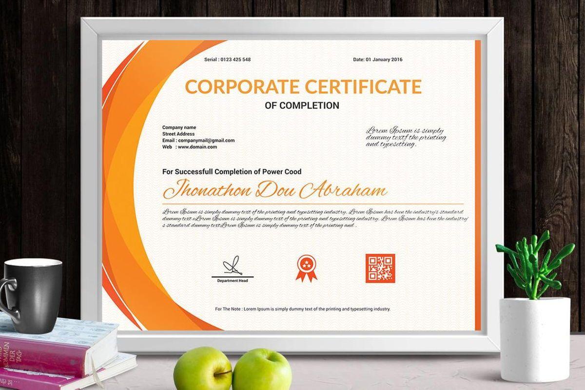 Vector Certificate Template, Slide 2, 08772, Business — PoweredTemplate.com