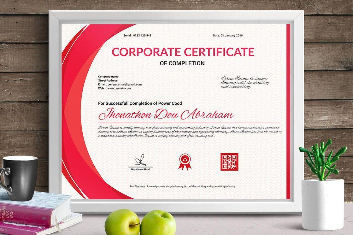 Vector Certificate Template, Slide 4, 08772, Business — PoweredTemplate.com
