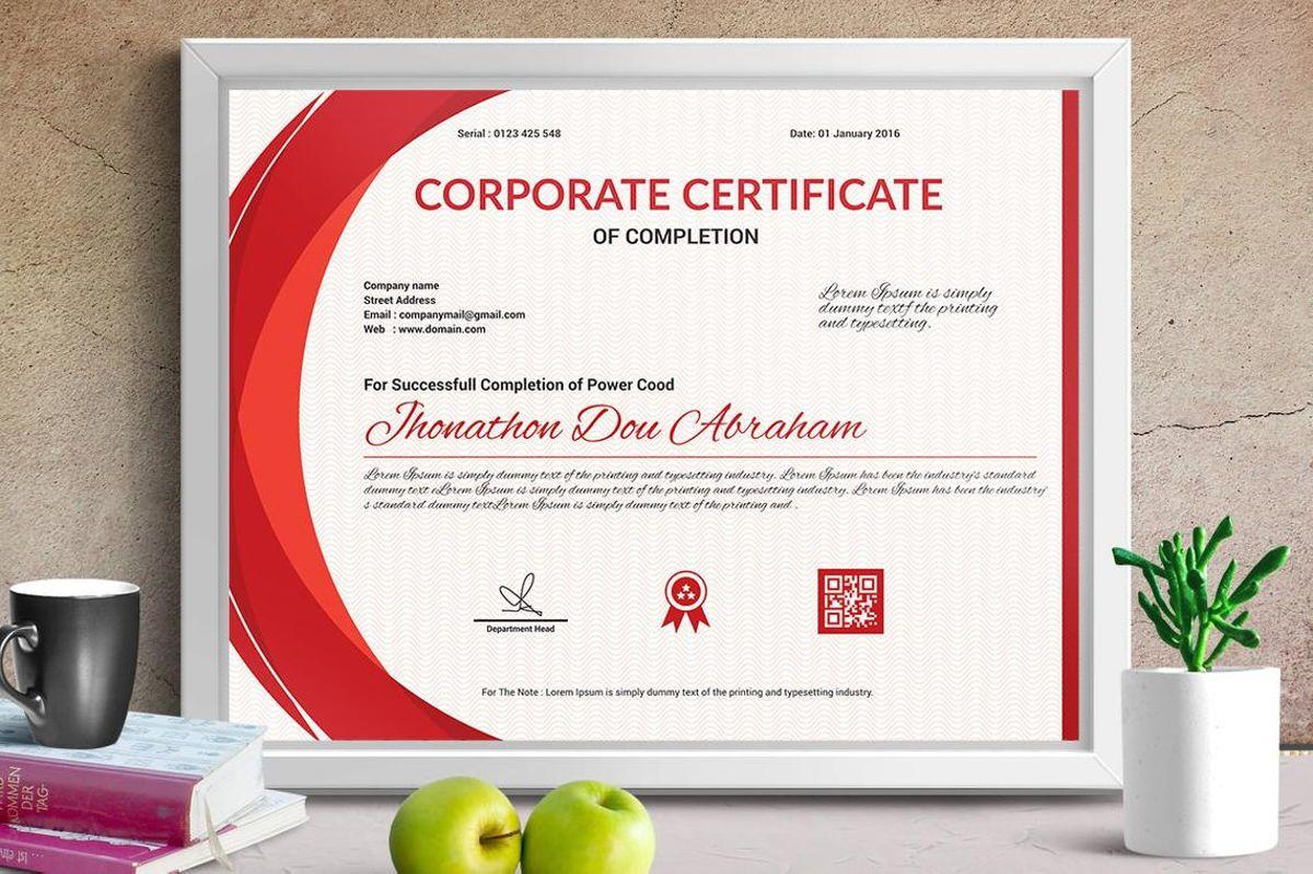 Vector Certificate Template, Slide 5, 08772, Business — PoweredTemplate.com