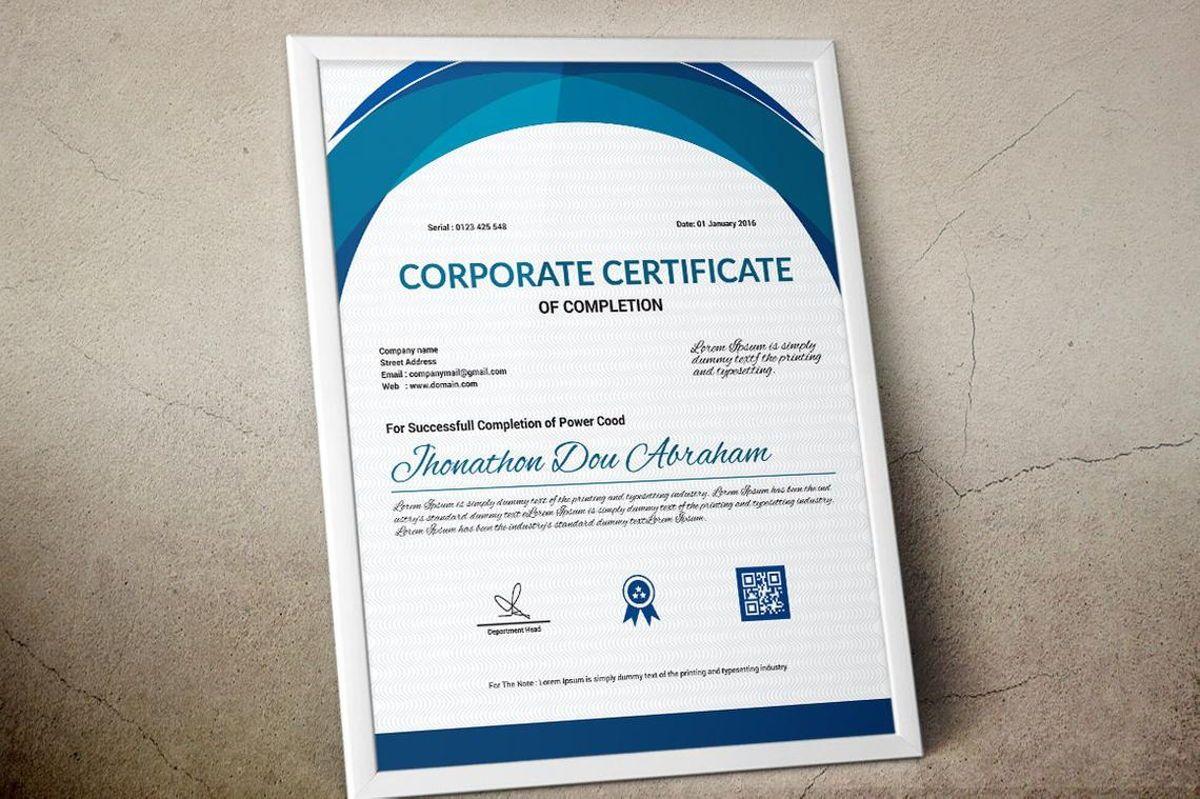Vector Certificate Template, Slide 6, 08772, Business — PoweredTemplate.com