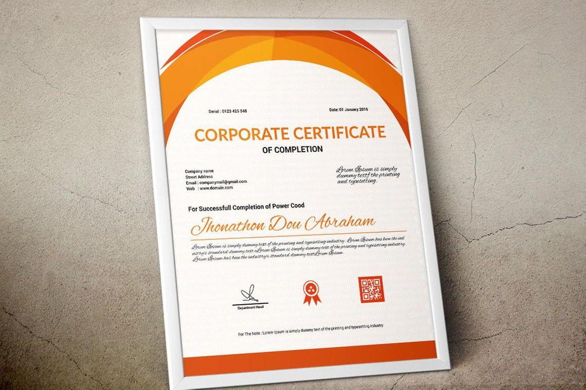 Vector Certificate Template, Slide 7, 08772, Business — PoweredTemplate.com